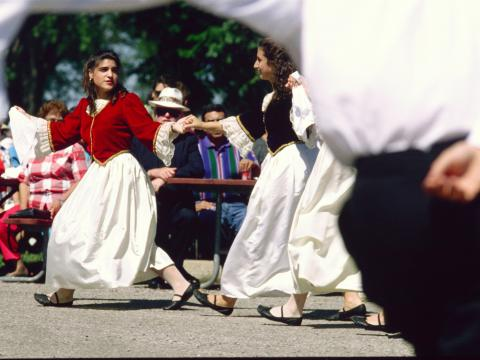 Traditional dance and costumes at the Rochester Greek Festival
