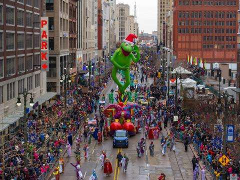 A festive day watching America's Thanksgiving Parade in downtown Detroit
