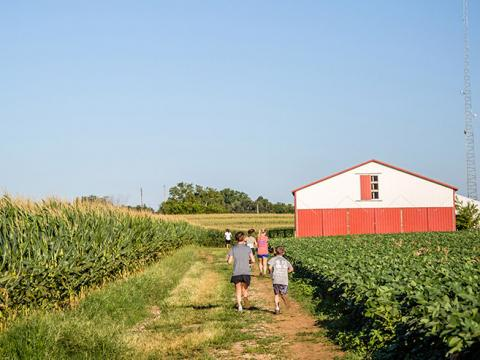 Peach Jam Festival and 5K at Mulberry Orchard in Shelbyville, Kentucky