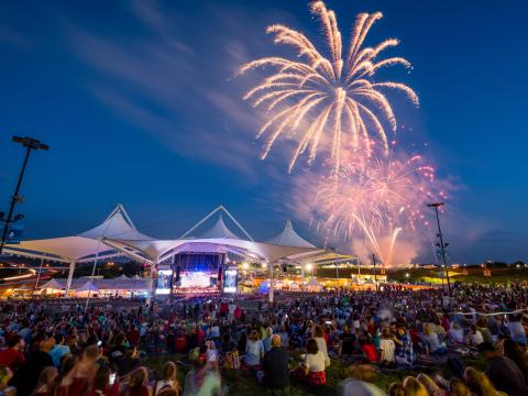The July 4th Fireworks Spectacular at the Walmart AMP in Rogers, Arkansas